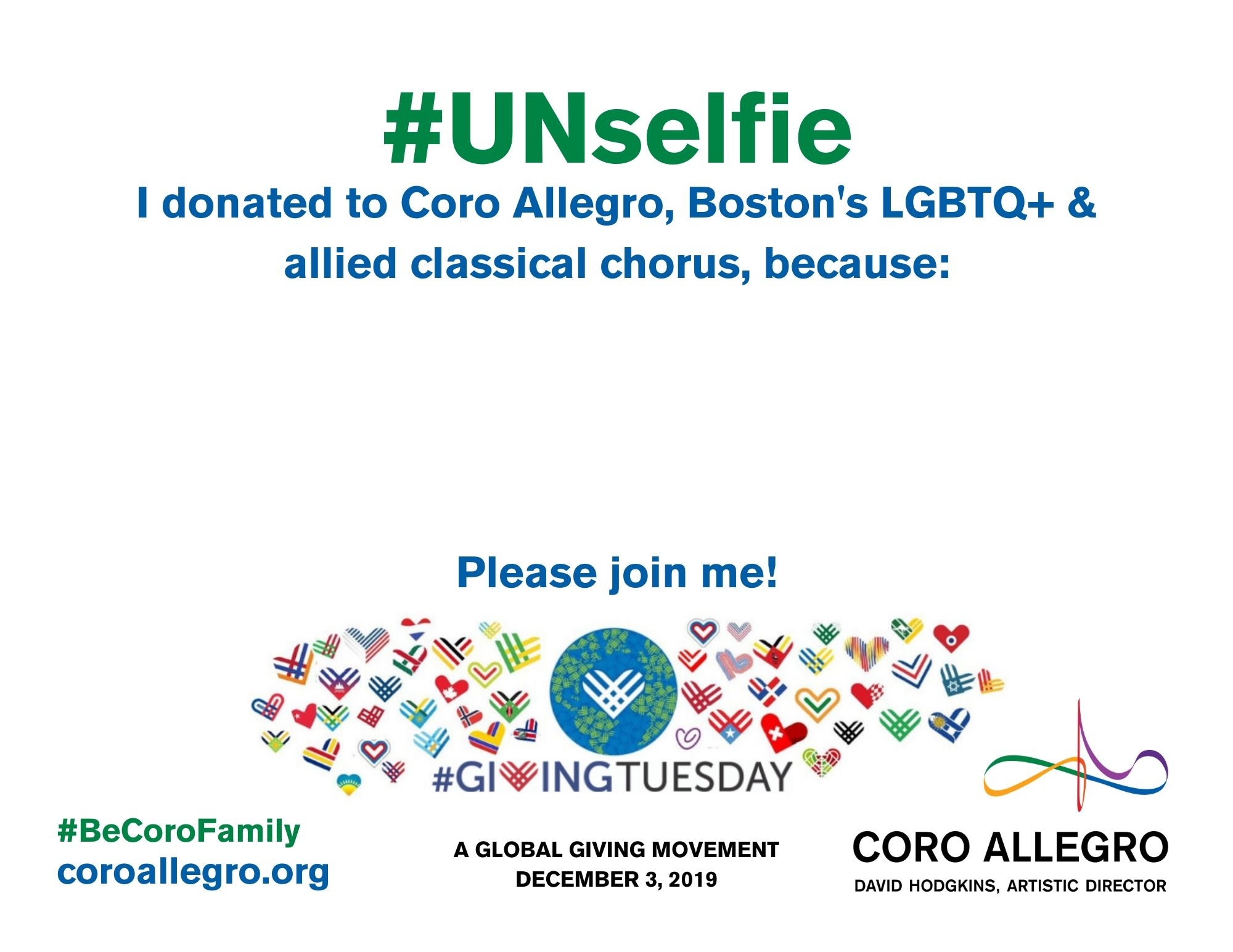Coro #GivingTuesday UNselfie sign .jpg